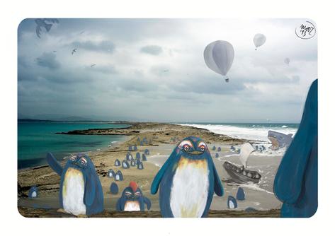 fotografía-ilustración-Formentera-painted photography