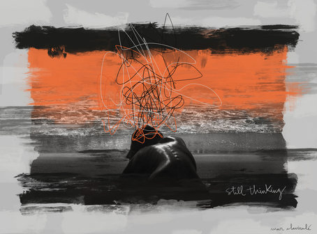STILL THINKING-Mixed Media-Collage Digital-Mar Callejon-Mar AlaVirulé