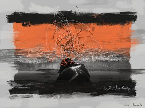 STILL THINKING-Mixed Media-Collage Digital-Mar Callejon-Mar AlaVirulé