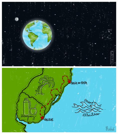 ilustracion-Espacio Sideral- Camino Cumbia
