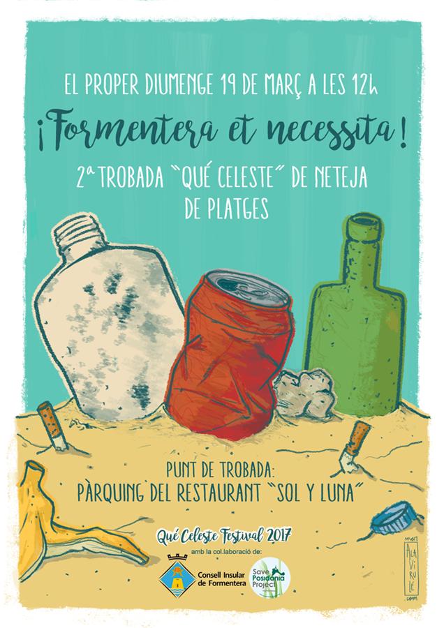 Ilustración Qué Celeste Formentera