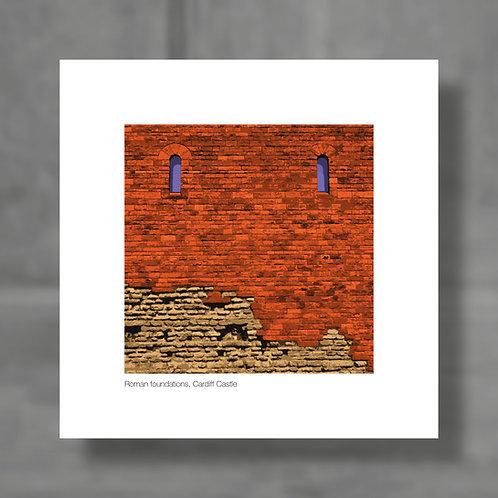 Roman foundations, Cardiff Castle - Colour digital print
