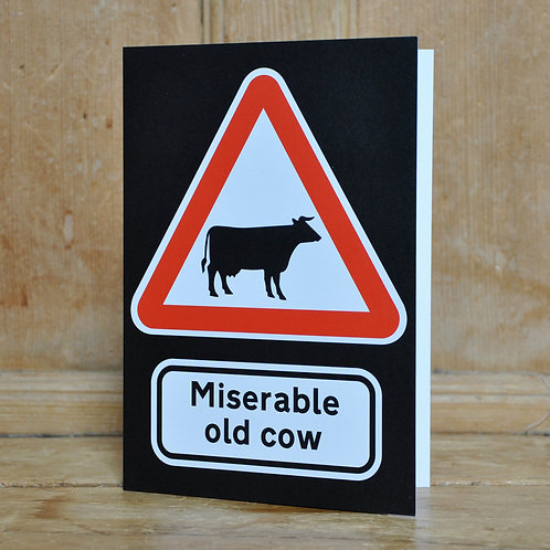 Traphic Greetings Cards - Wildlife warning signs