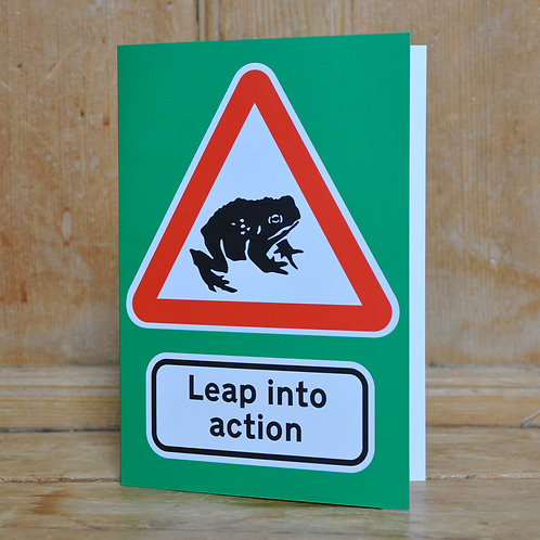 Traphic Greetings Card: Leap into action