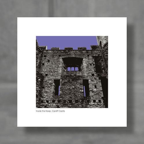 Inside the Keep, Cardiff Castle - Colour digital print