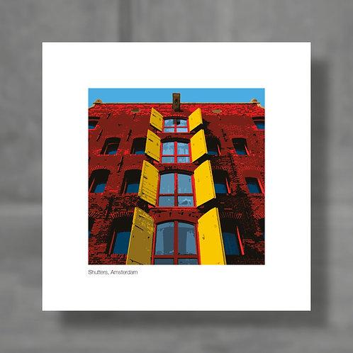 Shutters, Amsterdam - Colour digital print