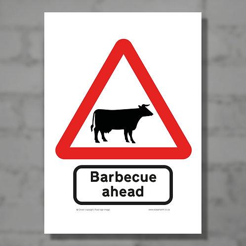 Barbecue ahead - Colour digital print
