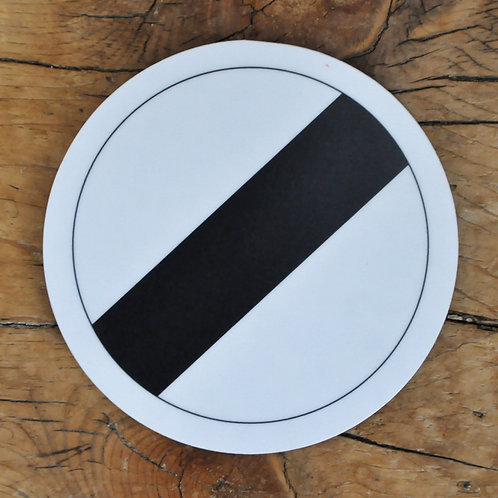 Road sign coaster: National speed limit