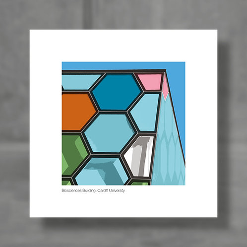 Biosciences Building, Cardiff University - Colour digital print