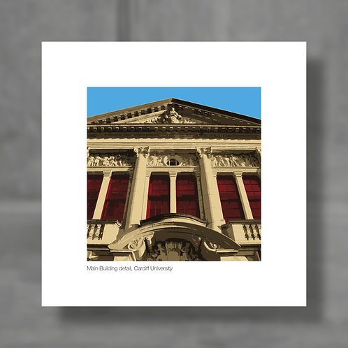 Cardiff University, Main Building detail - Colour digital print