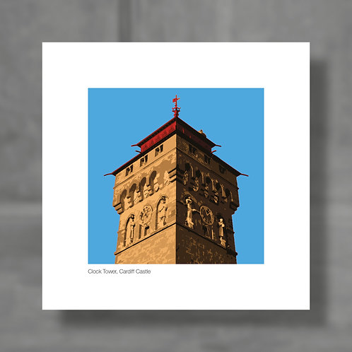 Clock Tower, Cardiff Castle - Colour digital print