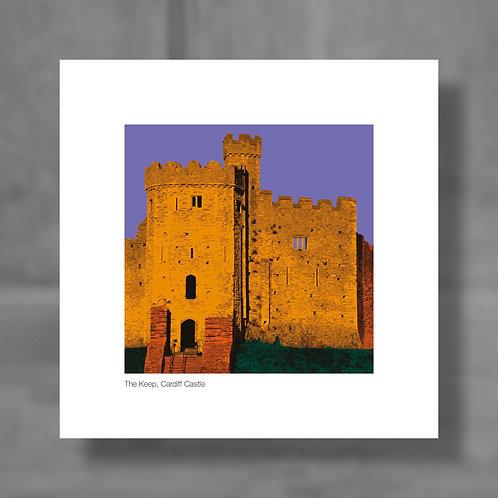 Cardiff Castle, The Keep - Colour digital print