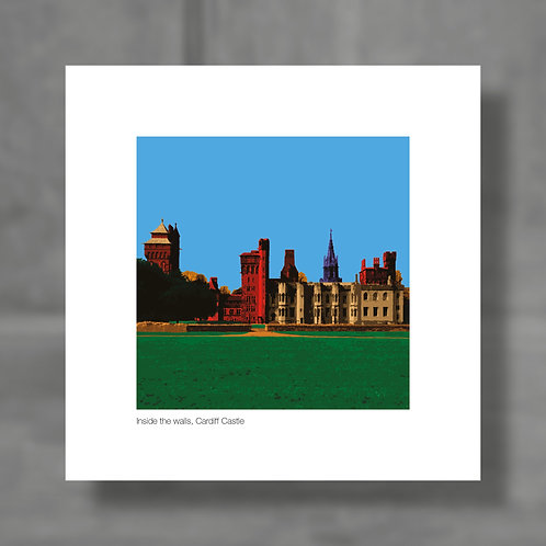Inside the walls, Cardiff Castle - Colour digital print
