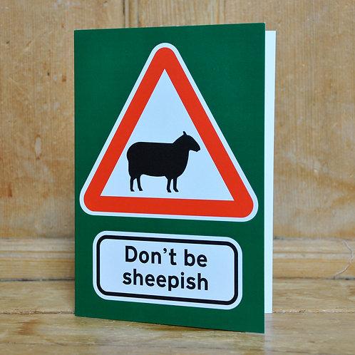 Traphic Greetings Card: Don't be sheepish