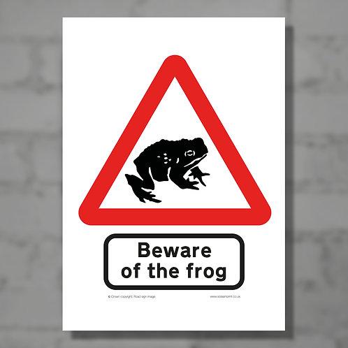 Beware of the frog - Colour digital print