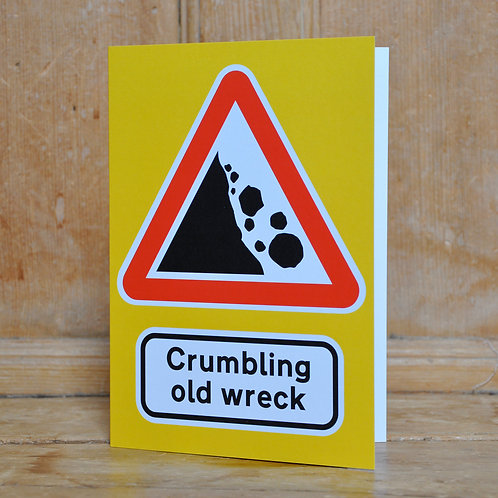 Traphic Greetings Card: Crumbling old wreck