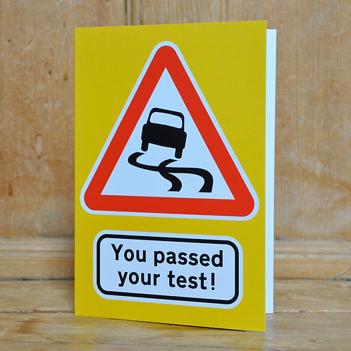 Traphic Greetings Card: You passed your test!