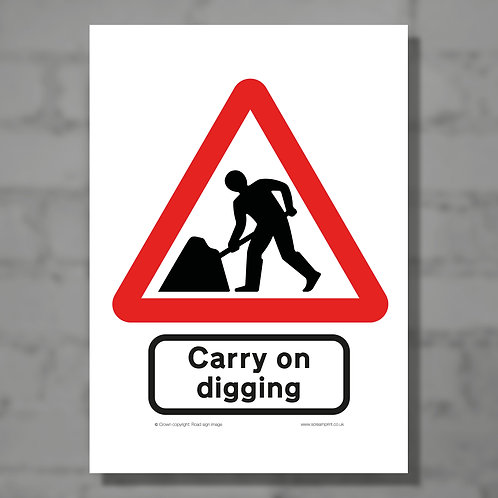 Carry on digging - Colour digital print