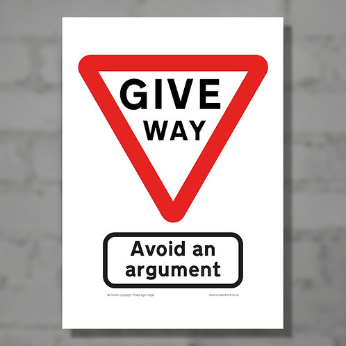 Avoid an argument - Colour digital print