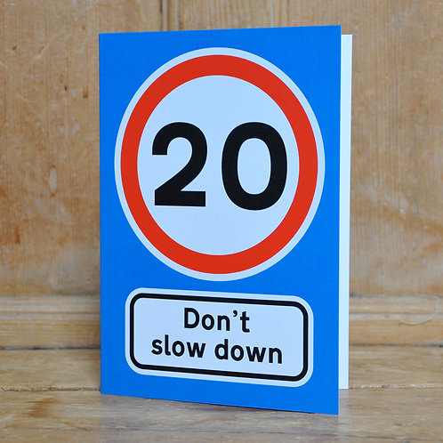 Traphic Greetings Cards - Speed limits