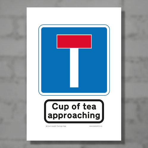 Cup of tea approaching - Colour digital print