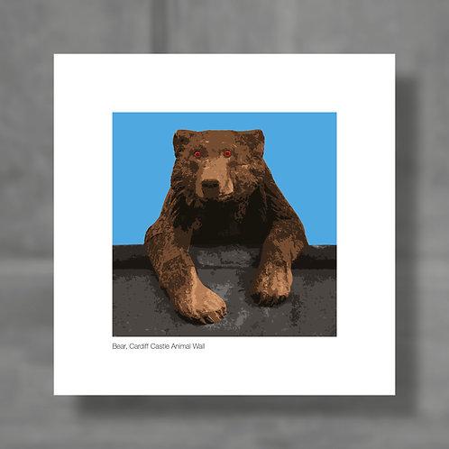 Bear, Cardiff Castle Animal Wall - Colour digital print
