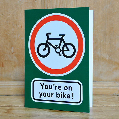 Traphic Greetings Cards - Signs showing vehicles