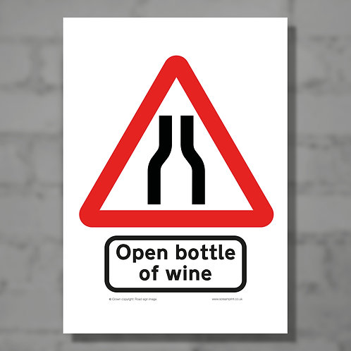 Open bottle of wine - Colour digital print