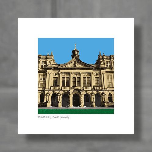 Cardiff University, Main Building - Colour digital print