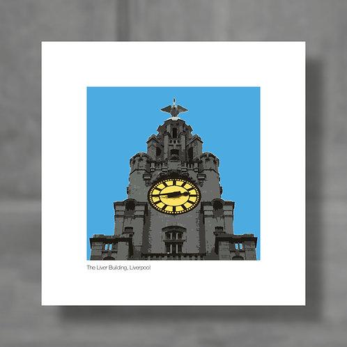 The Liver Building, Liverpool - Colour digital print