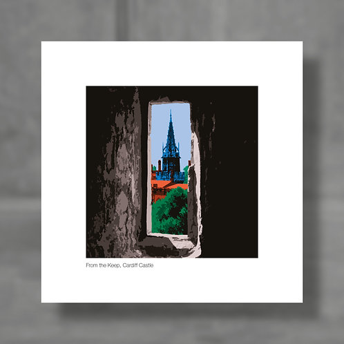 From the Keep, Cardiff Castle - Colour digital print