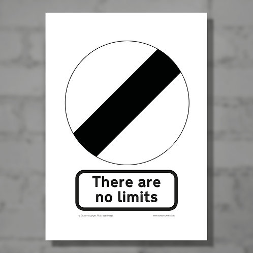 There are no limits - Colour digital print