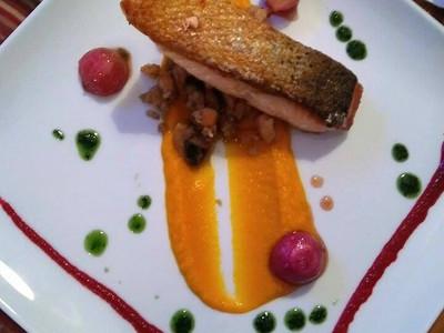 saumon déclinaison de légumes