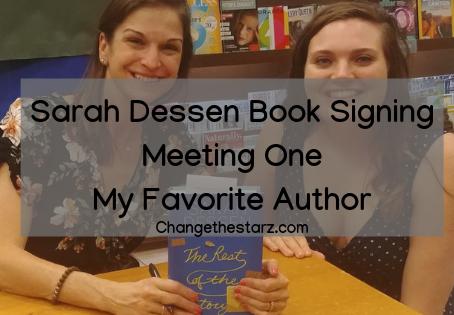 Sarah Dessen Book Signing Meeting One My Favorite Author