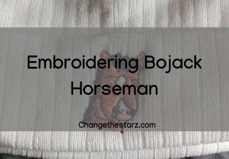 Embroidering Bojack Horseman