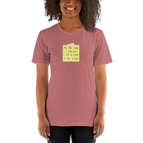 To-Do List - Short-Sleeve Unisex T-Shirt