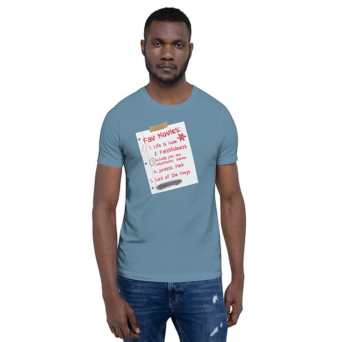 My Favorite Movies Are NatesMovies - Short-Sleeve Unisex T-Shirt