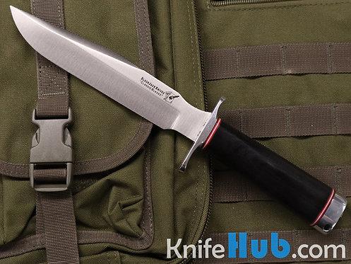 BlackJack Knives Model 1-7 Black Canvas Micarta A2 Satin Blade