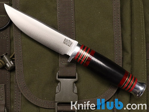 Bark River Knives Manitou CPM Cru-Wear Black Canvas Micarta Bloody Basin Spacer