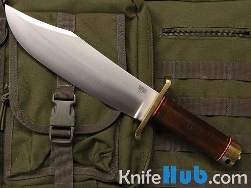 Bark River Knives V-44 Bowie LT Aged Stacked Leather