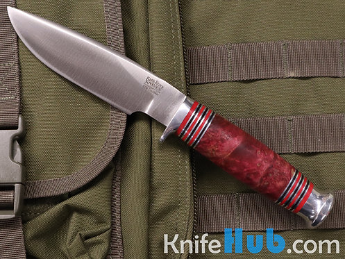Bark River Knives Michigan Hunter Scarlet Elder Burl CPM Cru-Wear