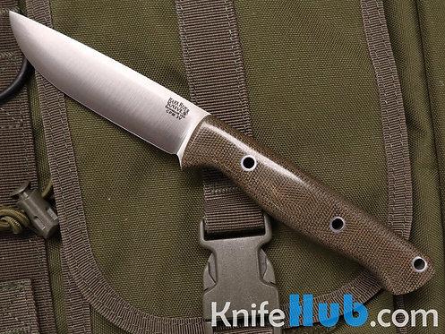 Bark River Knives Gunny Hunter CPM 3V Green Canvas Micarta Hollow Pins