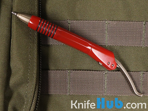 Microtech Siphon II Red Stainless Steel Bronze Hardware 401-SS-RDBZ
