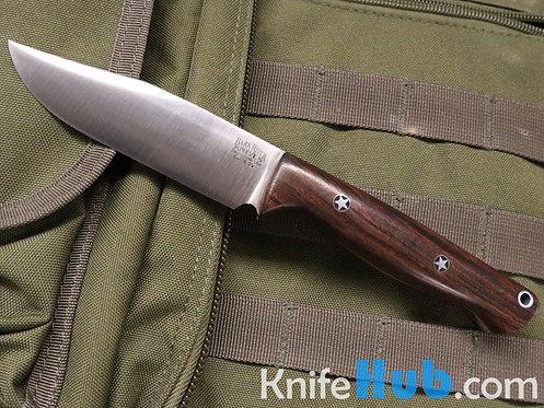 Bark River Knives Gunny Sidekick CPM 3V Ironwood Orange Liner Fixed Blade Knife
