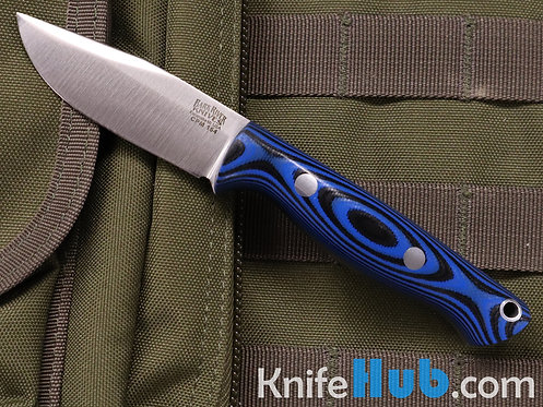 Bark River Knives Bravo Sentry CPM 154 Blue and Black G-10