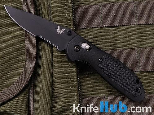 Benchmade Mini Griptilian Black Handle Black S30V Blade Serrated 556SBK-S30V