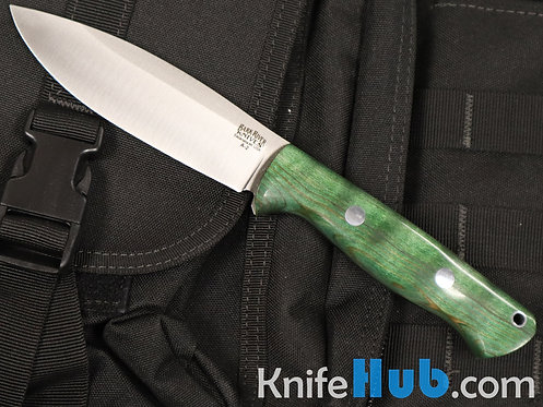 Bark River Knives UP Bravo Green Tigertail Maple Burl