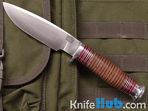 Bark River Knives Michigan Hunter Stacked Leather CPM Cru-Wear