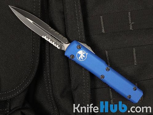 Microtech Ultratech D/E Blue Partial Serrated 122-2 BL