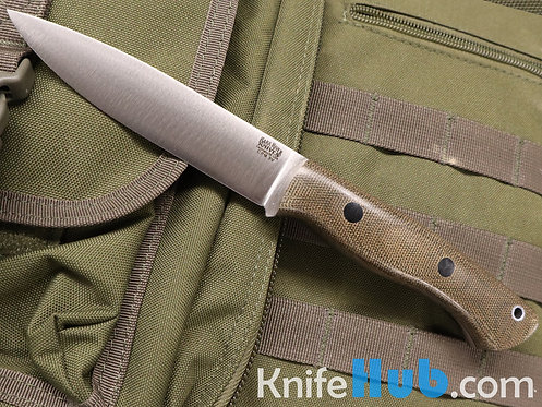 Bark River Knives Aurora CPM 3V Green Canvas Micarta Black Liner & Pins